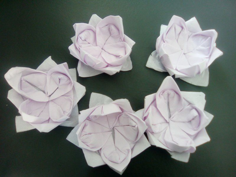 Pliage Serviettes De Table En Fleur De Lotus Mes