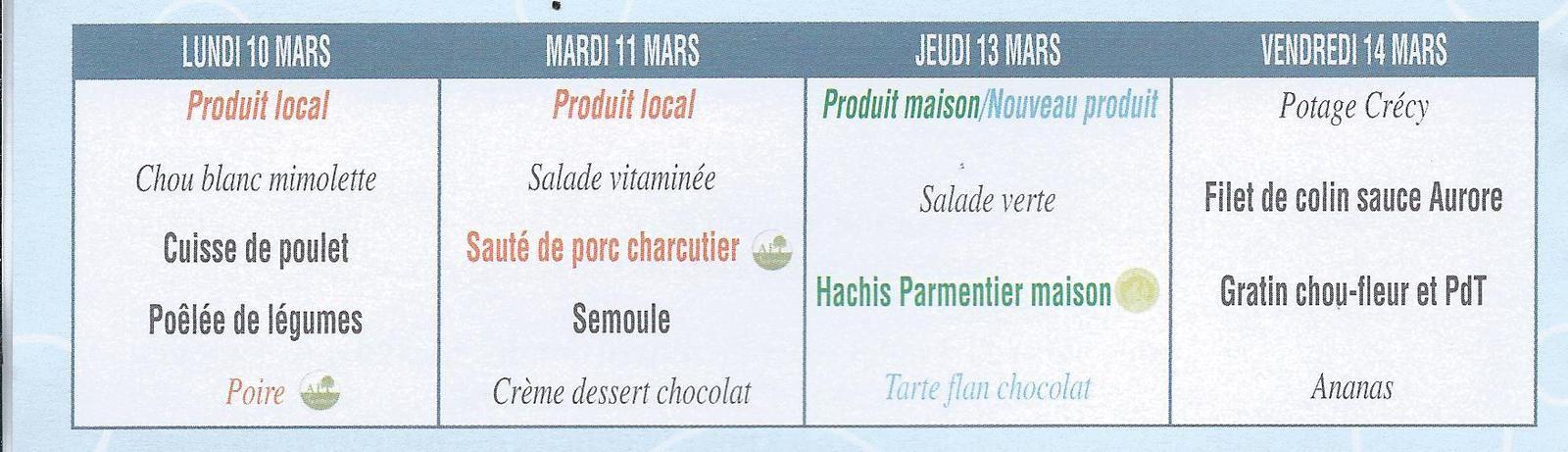 Du chocolat au menu 2 fois