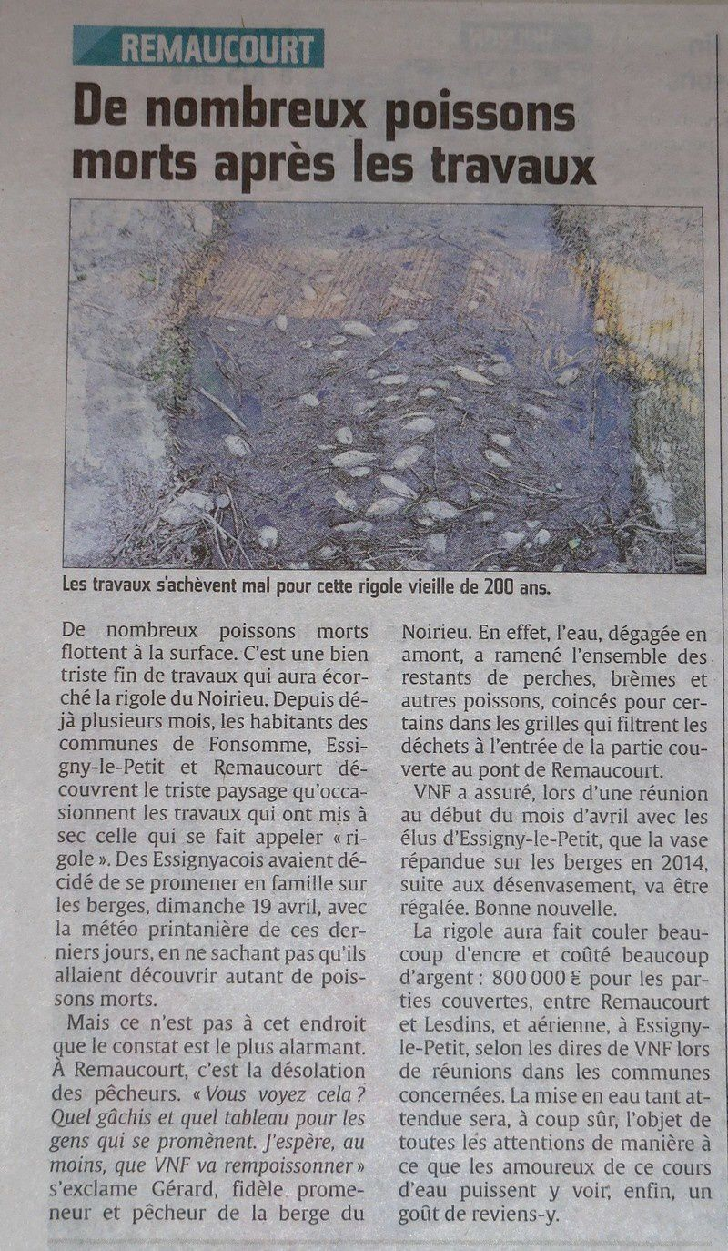 Le Courrier picard du 23 avril 2015