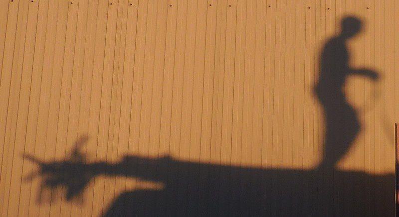 Théâtre d'ombres à la fête d'école