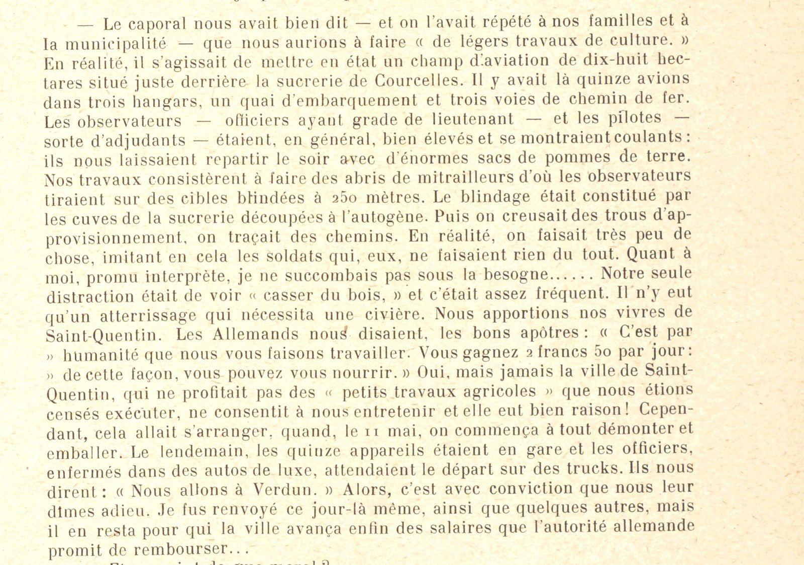 Travaux de culture à Courcelles pendant la guerre