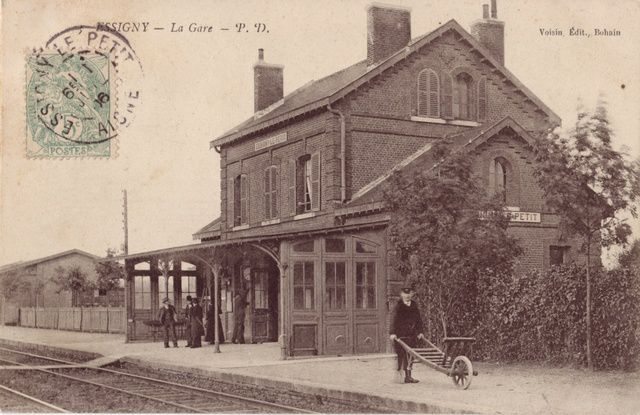 La gare en 1906 (collection jph)