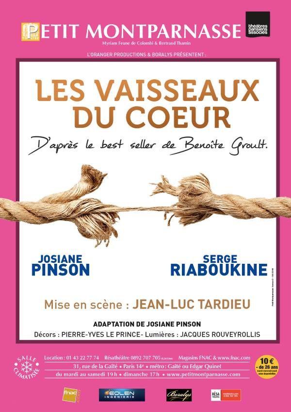 #Théâtre - &quot&#x3B;Les Vaisseaux du Cœur&quot&#x3B; au Petit Montparnasse