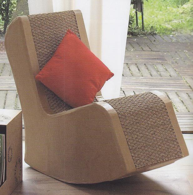 fauteuil bascule en carton blogueuse de vies. Black Bedroom Furniture Sets. Home Design Ideas