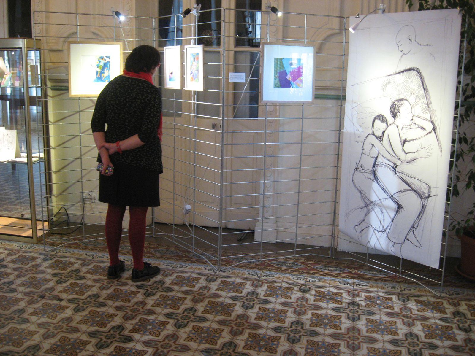 Exposition &quot&#x3B;La sieste&quot&#x3B; dans le cadre du Salon du Livre de Contrex.