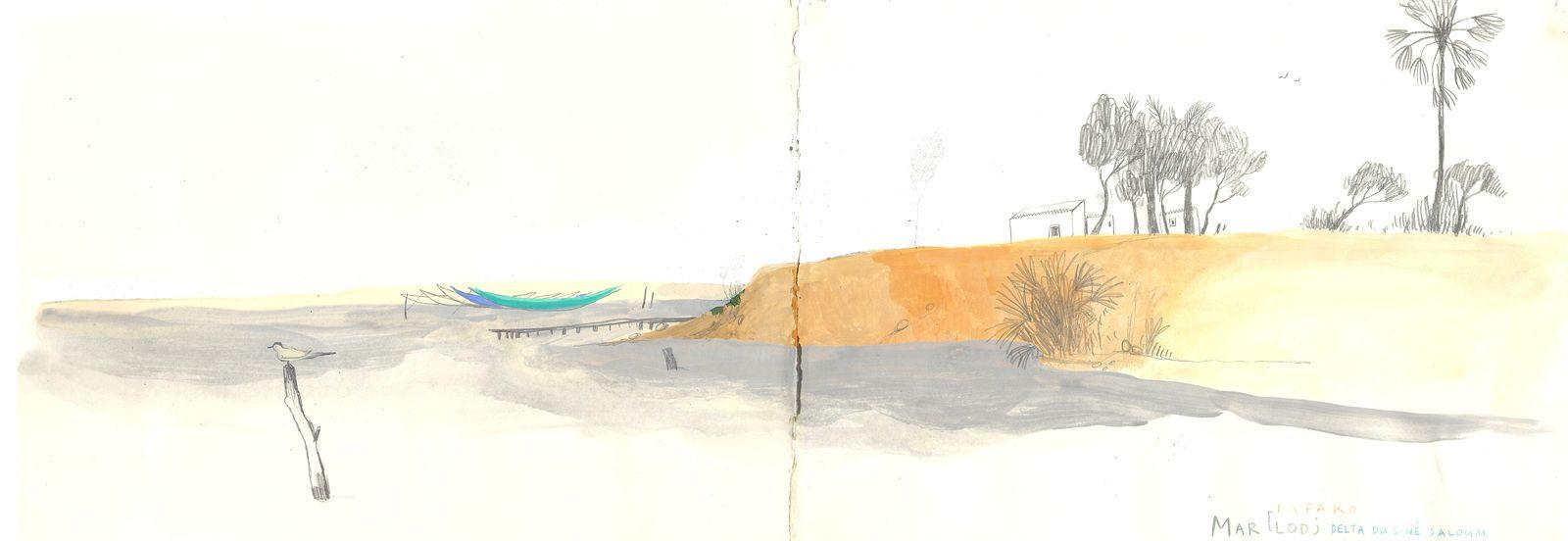 Sénégal, 2009, crayon, peinture acrylique