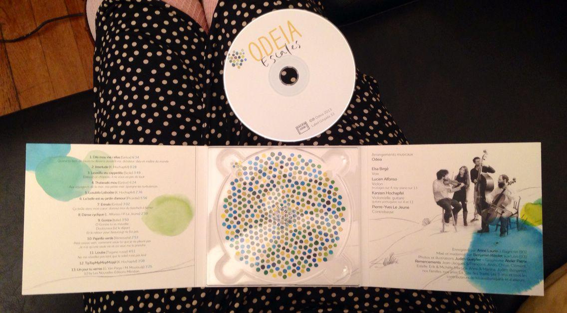 Création de la pochette du disque&quot&#x3B;Escale&quot&#x3B; du groupe Odeia.