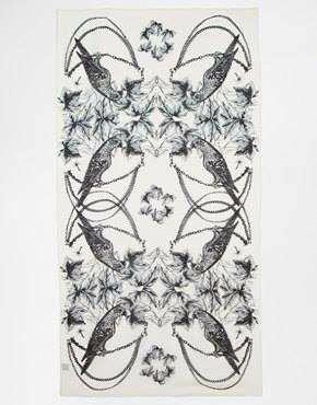 Foulard noir &amp&#x3B; blanc