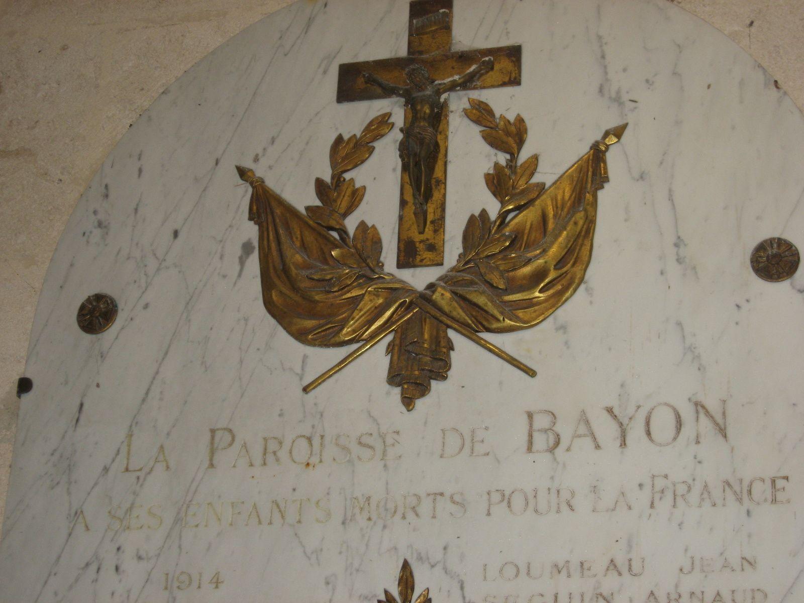 Entre Bourg sur Gironde et Blaye et Eglise de Bayon merveilleusement restaurée