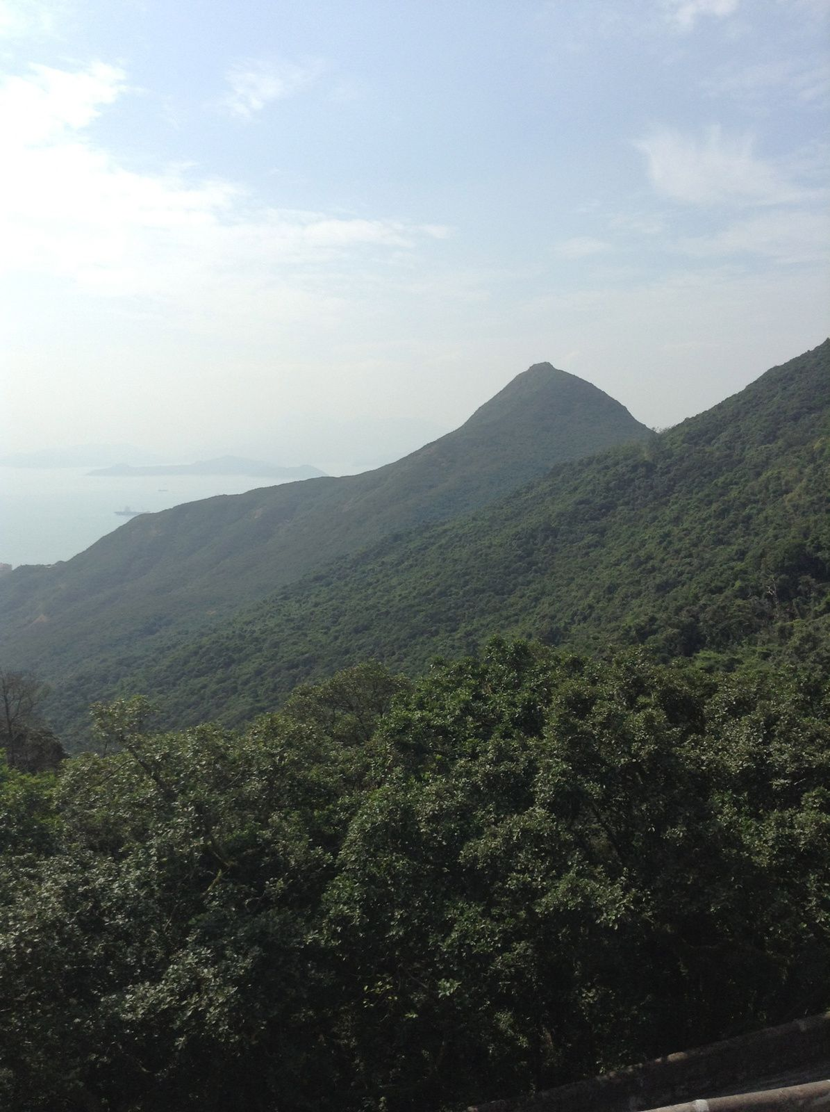 Le grand Bouddha et ses déesses, les brule encens sur l'ile de Lantau,  la vue du Peak, le Hong Kong Park .