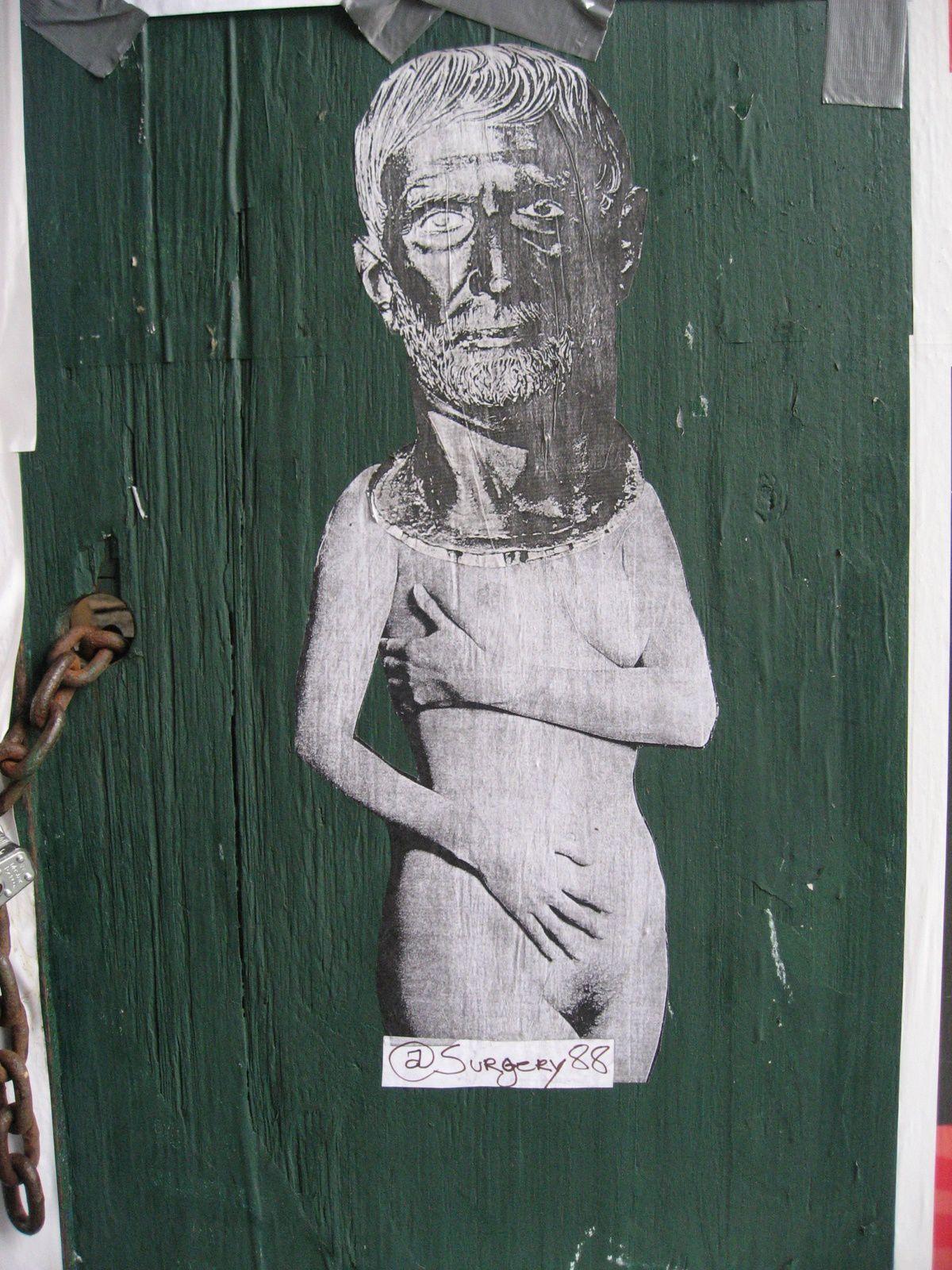 Dernière balade à Chelsea dans les rues des  Galeries , nouvelles tendances corps modernes et tête  grecques.
