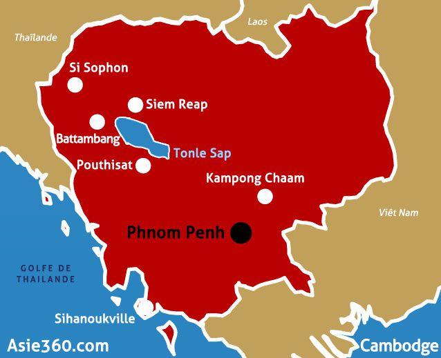 Cambodge, 2 semaines ½… Nous inscrivons d'ores et déjà sur notre itinéraire les temples d'Angkor et les villages flottants du Tonle Sap