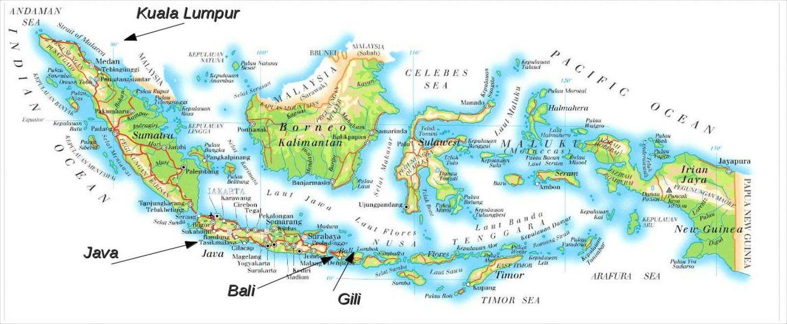 Indonesie Java Bali Puis Les Iles Gili
