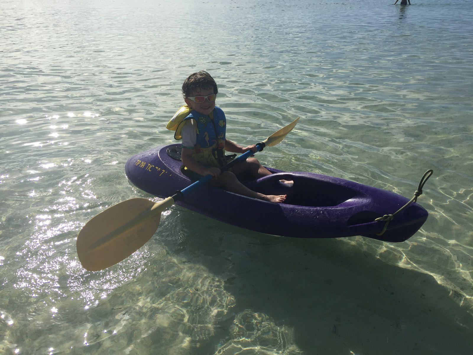 Victor en kayak