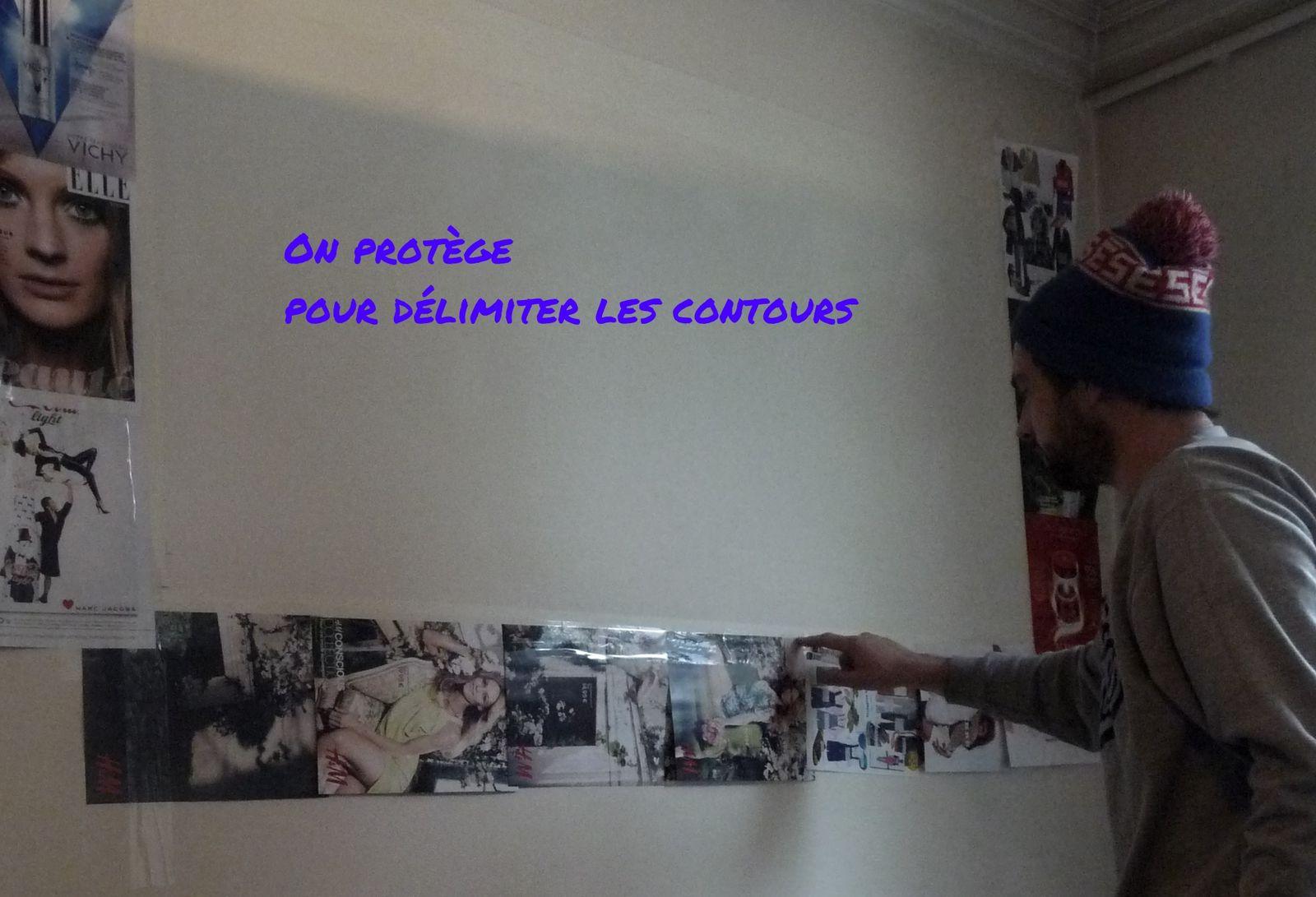 Renk, peintre graffeur ou comment avoir un tag sur le mur de son salon!