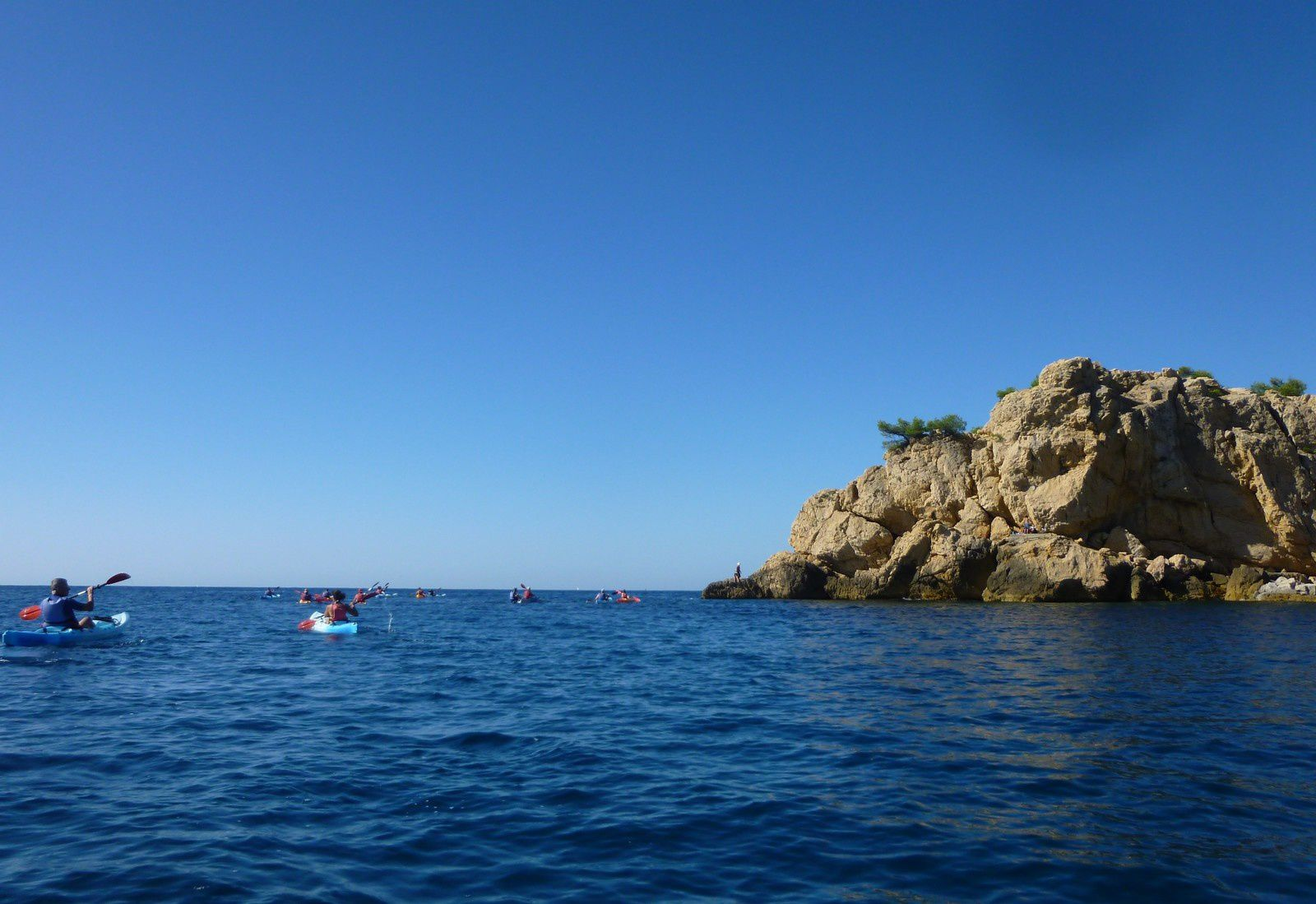 La partie kayak : le plus beau.