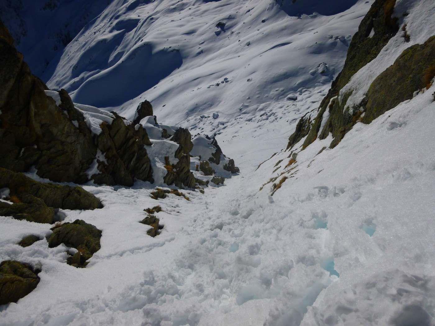 coté sud la montée ....coté nord la descente.