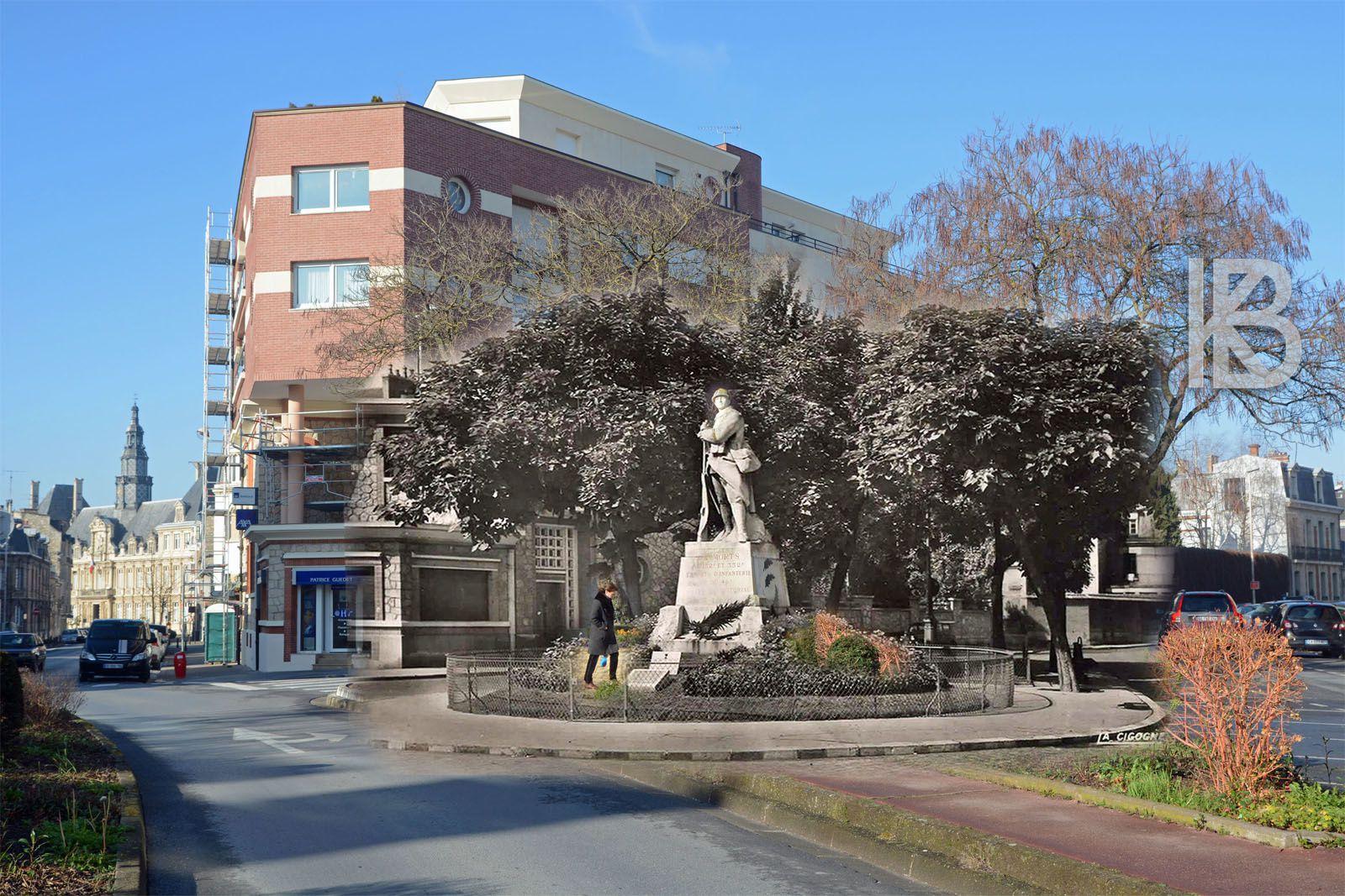 Reims : Aux 132e, 332e R.I. et 46e Territorial - Monument