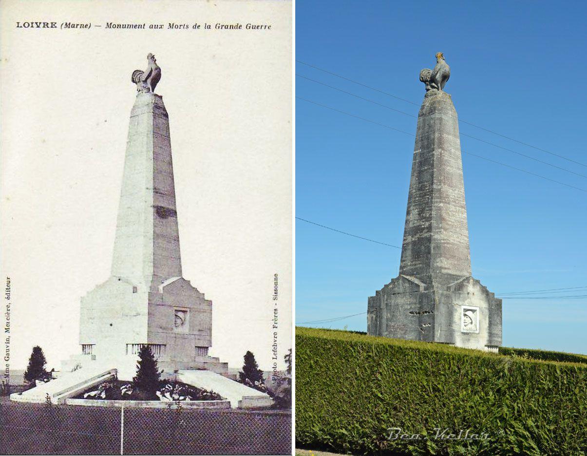 Loivre - Le Monument aux Morts, aux 133e, 24e et 28e R.I.
