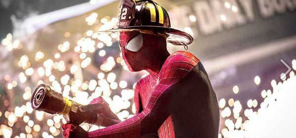 The Amazing-Spider 2 : Une nouvelle photo montrant Spider-Man jouant les pompiers