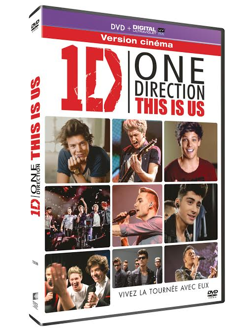 "Visuel du DVD : ""One Direction : This is us"""