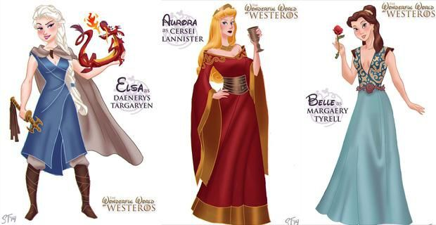 Les princesses Disney dans la série &quot&#x3B;Game Of Thrones&quot&#x3B; !