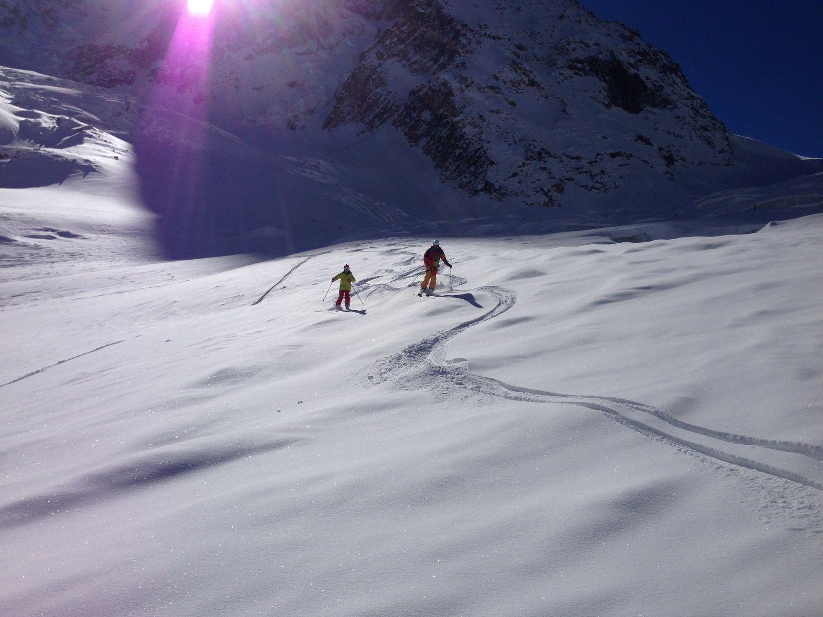 Free Ride à l'Aiguille du Midi http://www.geromegualaguidechamonix.com