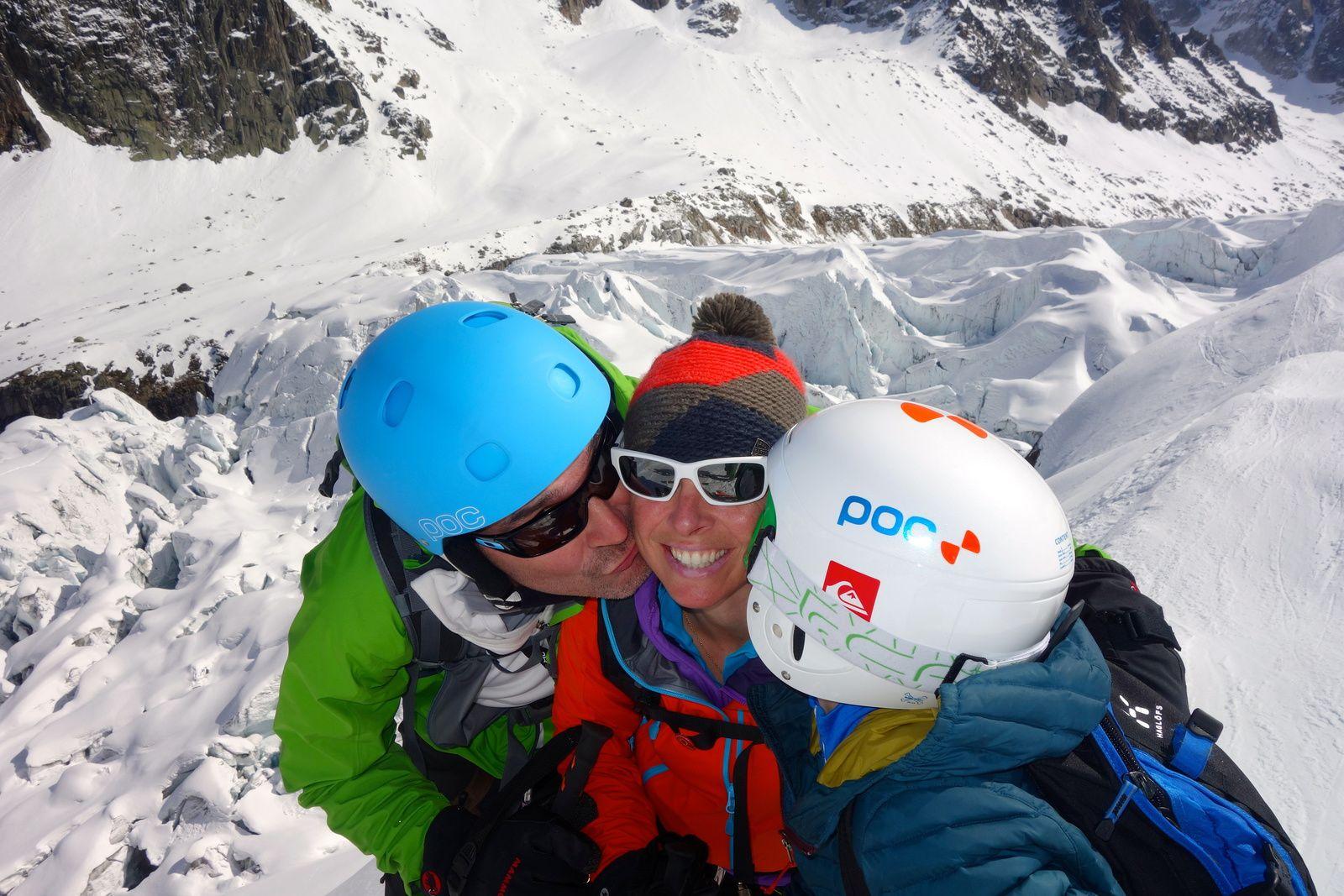 randonnée à ski, Petite verte, Grands Montets, Chamonix Mont Blanc. http://www.geromegualaguidechamonix.com