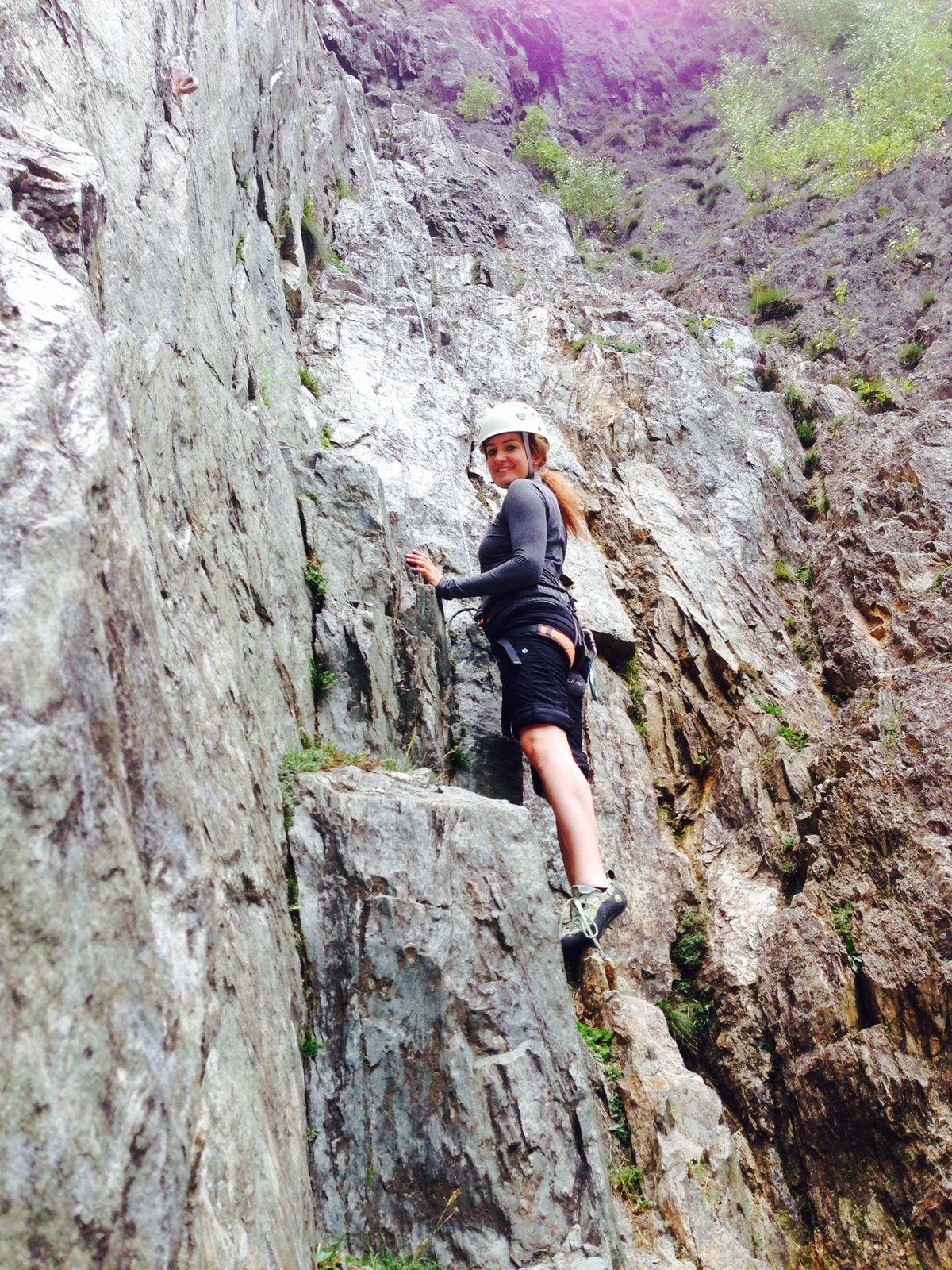 escalade aux Gaillands à Chamonix Mont Blanc http://www.geromegualaguidechamonix.com