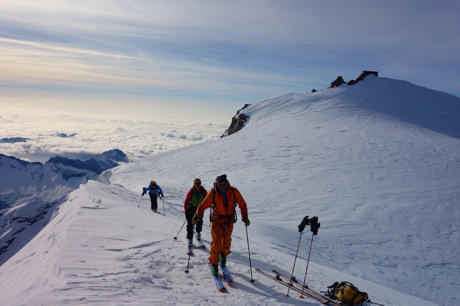 http://www.geromegualaguidechamonix.com Face Est du Mont Rose, Couloir Marinelli