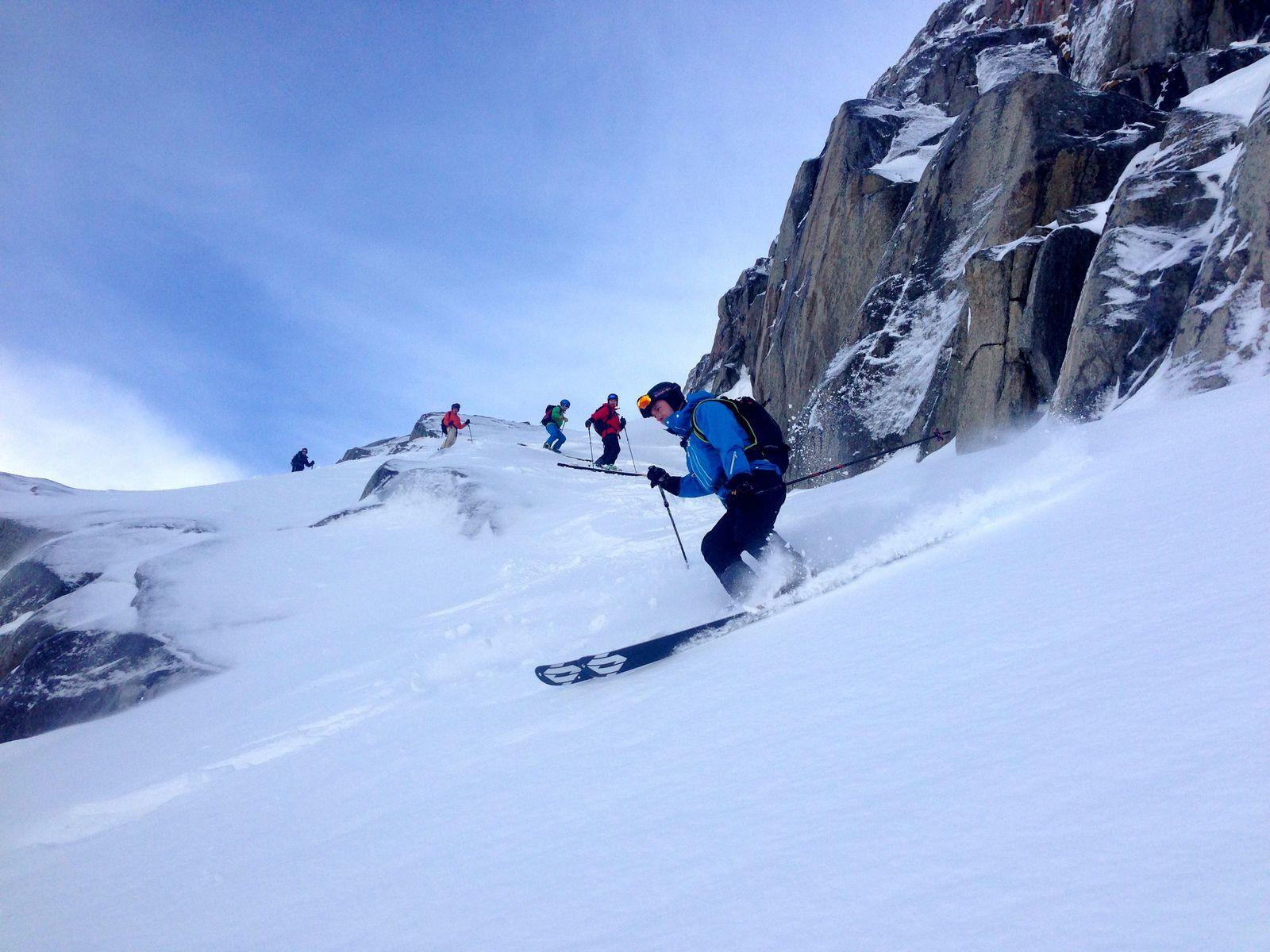 Free ride/hors pistes Chamonix Mont Blanc http://www.geromegualaguidechamonix.com