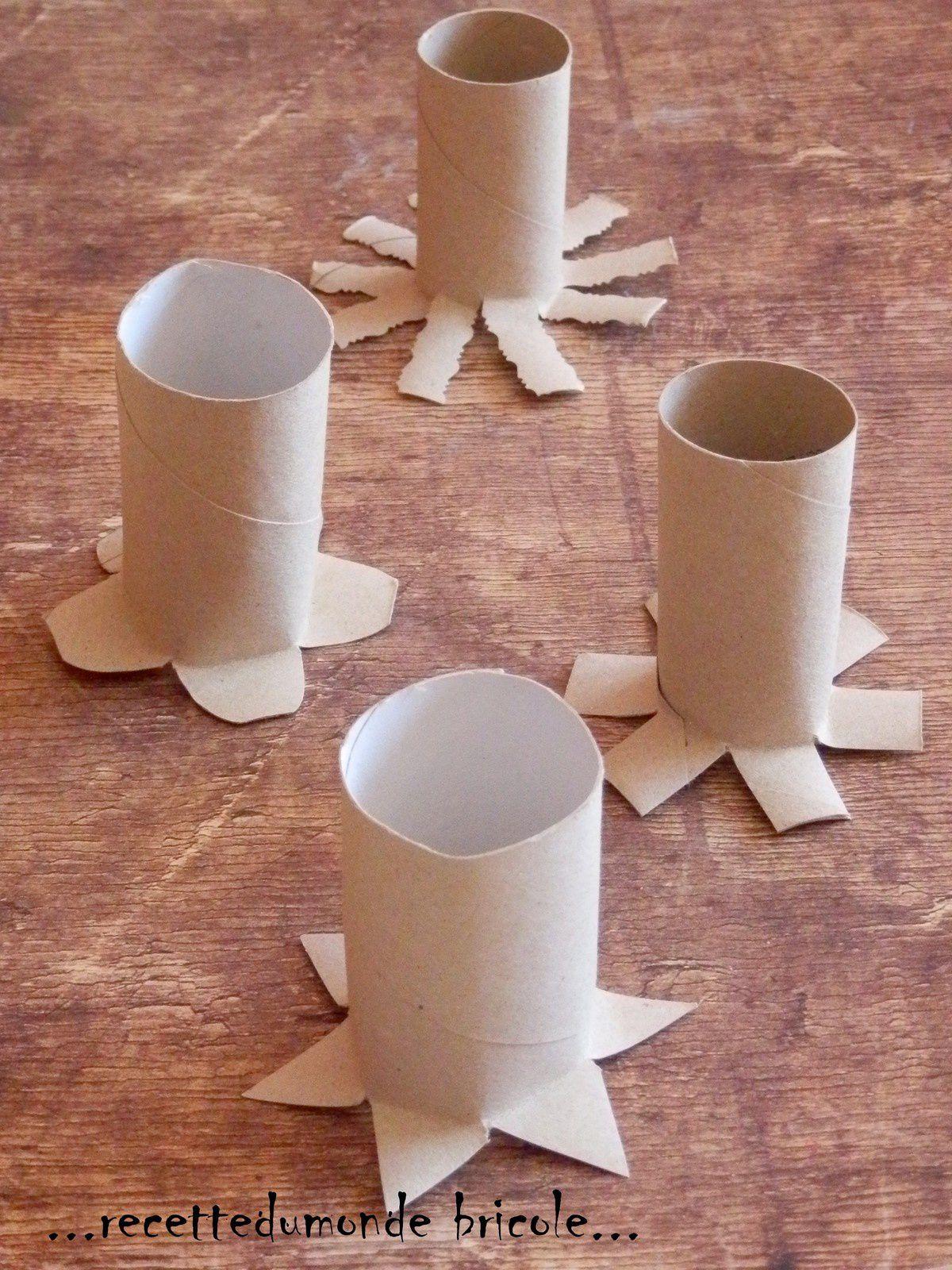 Peindre avec des tampons en rouleaux de papier