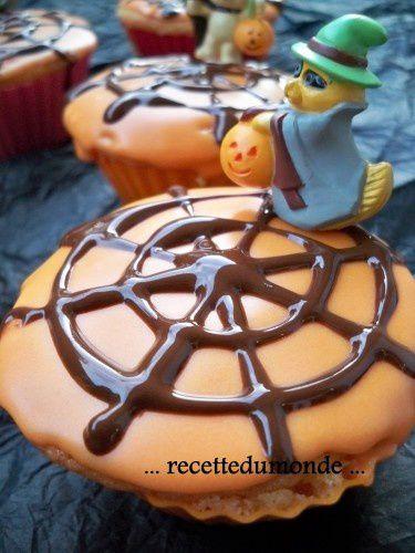 Muffin d'Haloween à la graine de courge chocolatée