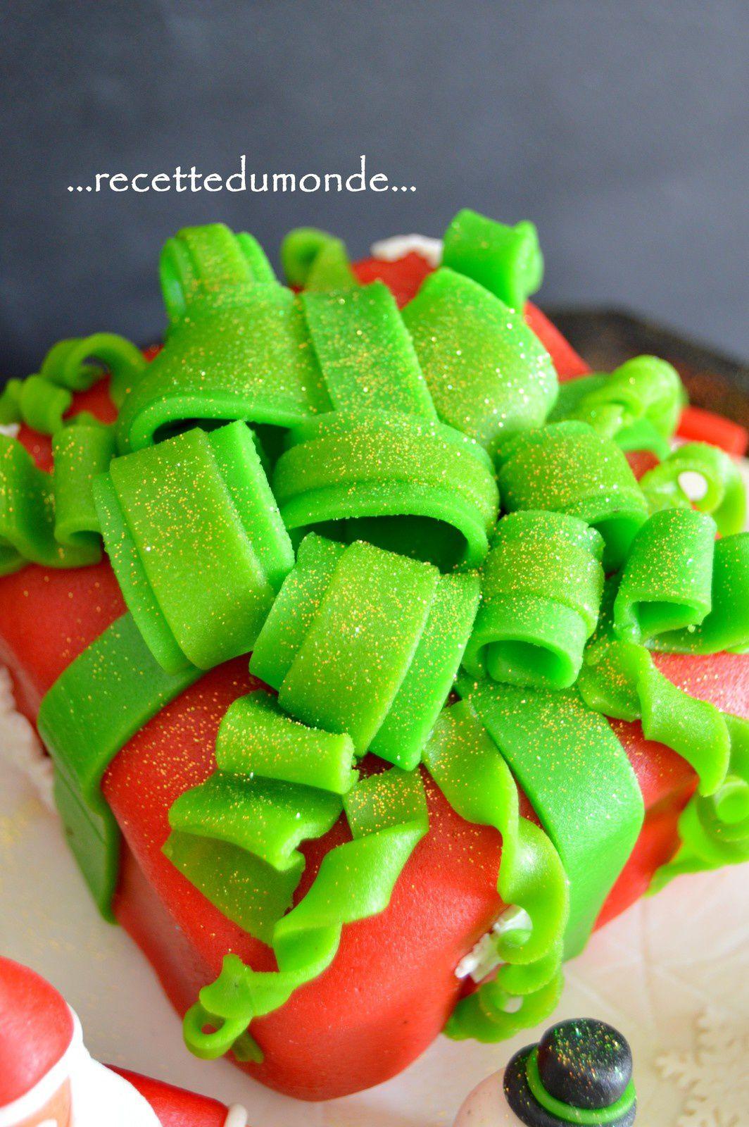 Gâteau de Noël 3D pâte d'amande - Christmas Cake