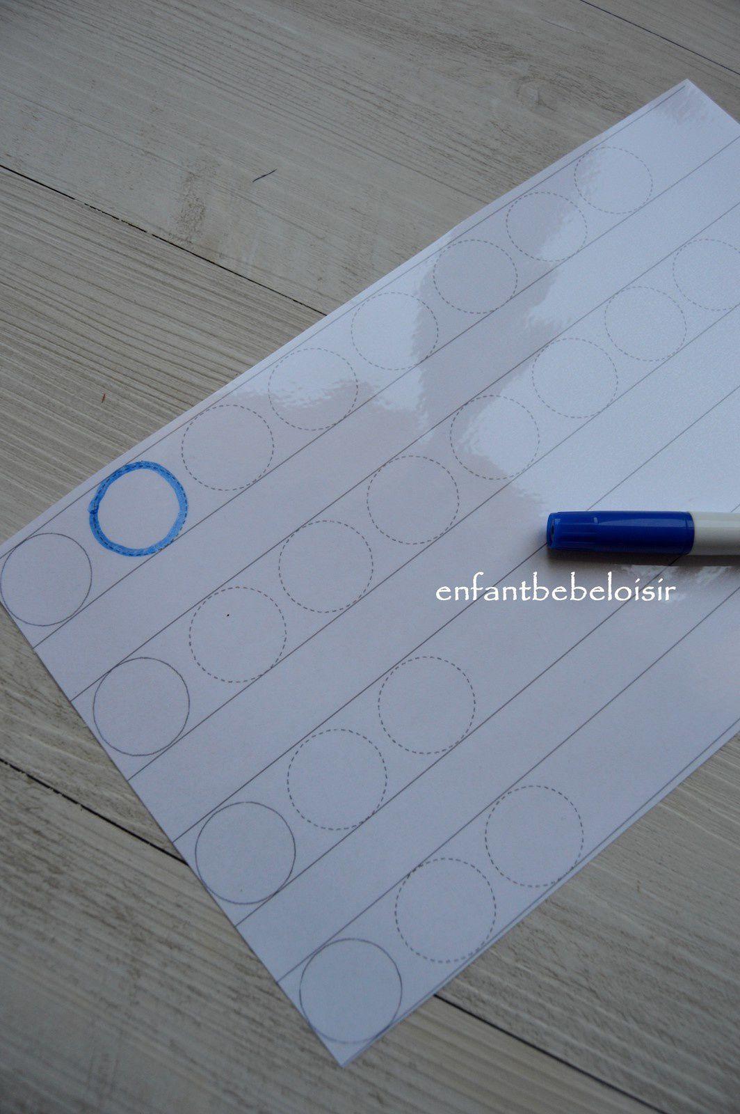 Tracer des ronds - cercles - exercice à plastifier