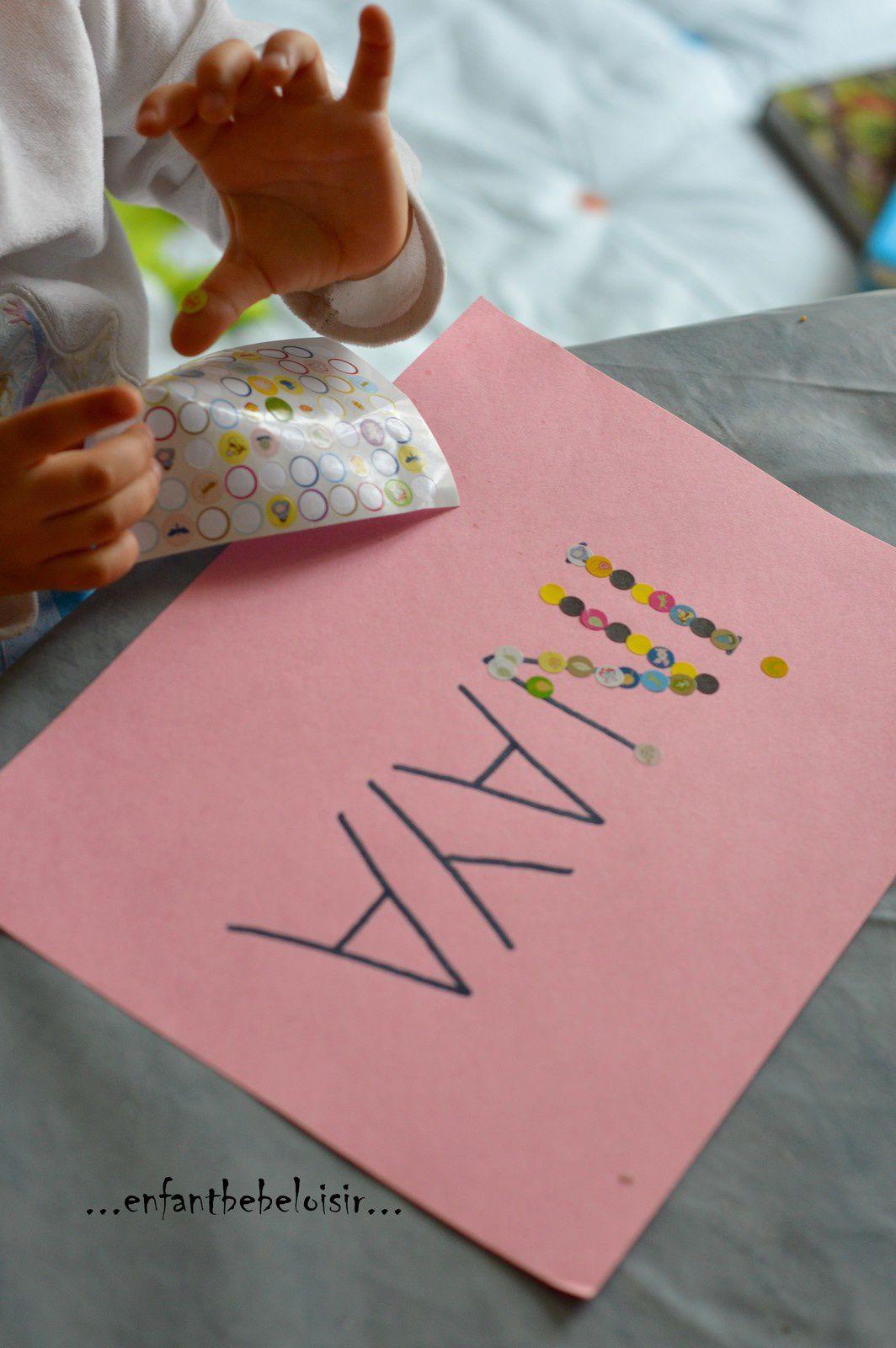 Bien connu Idée d'exercice - apprendre a écrire son prénom - enfant bébé loisir XQ08