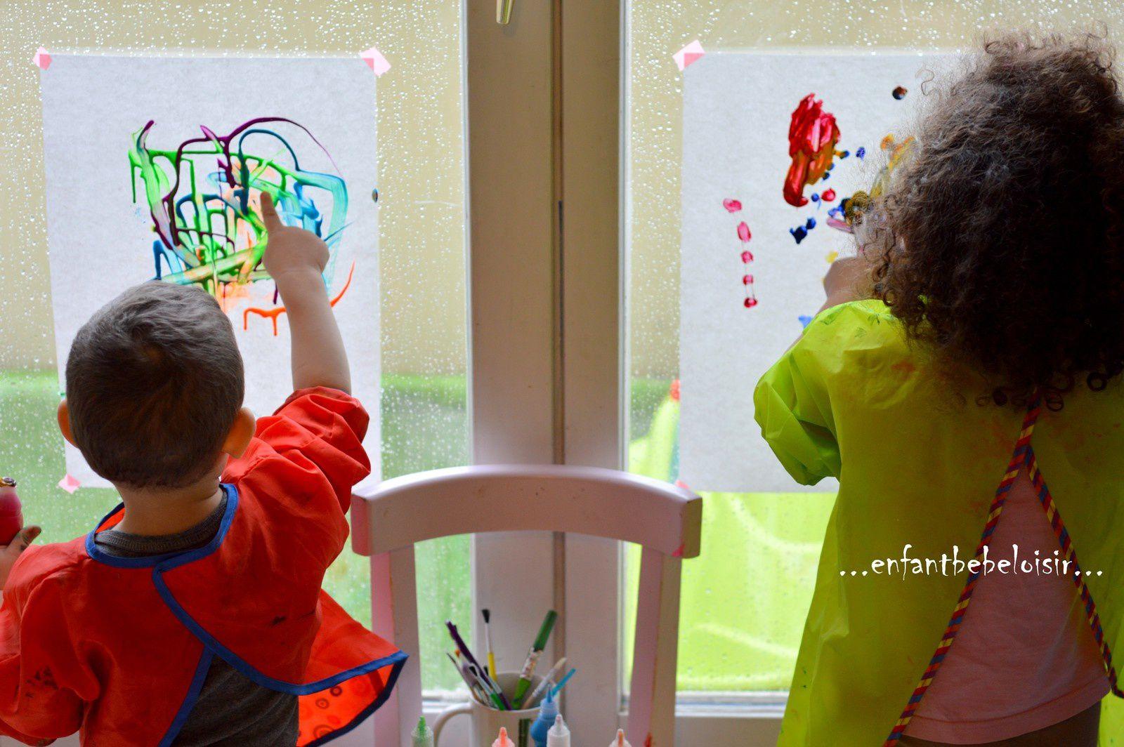 Une après midi pluvieuse - mélange de peinture