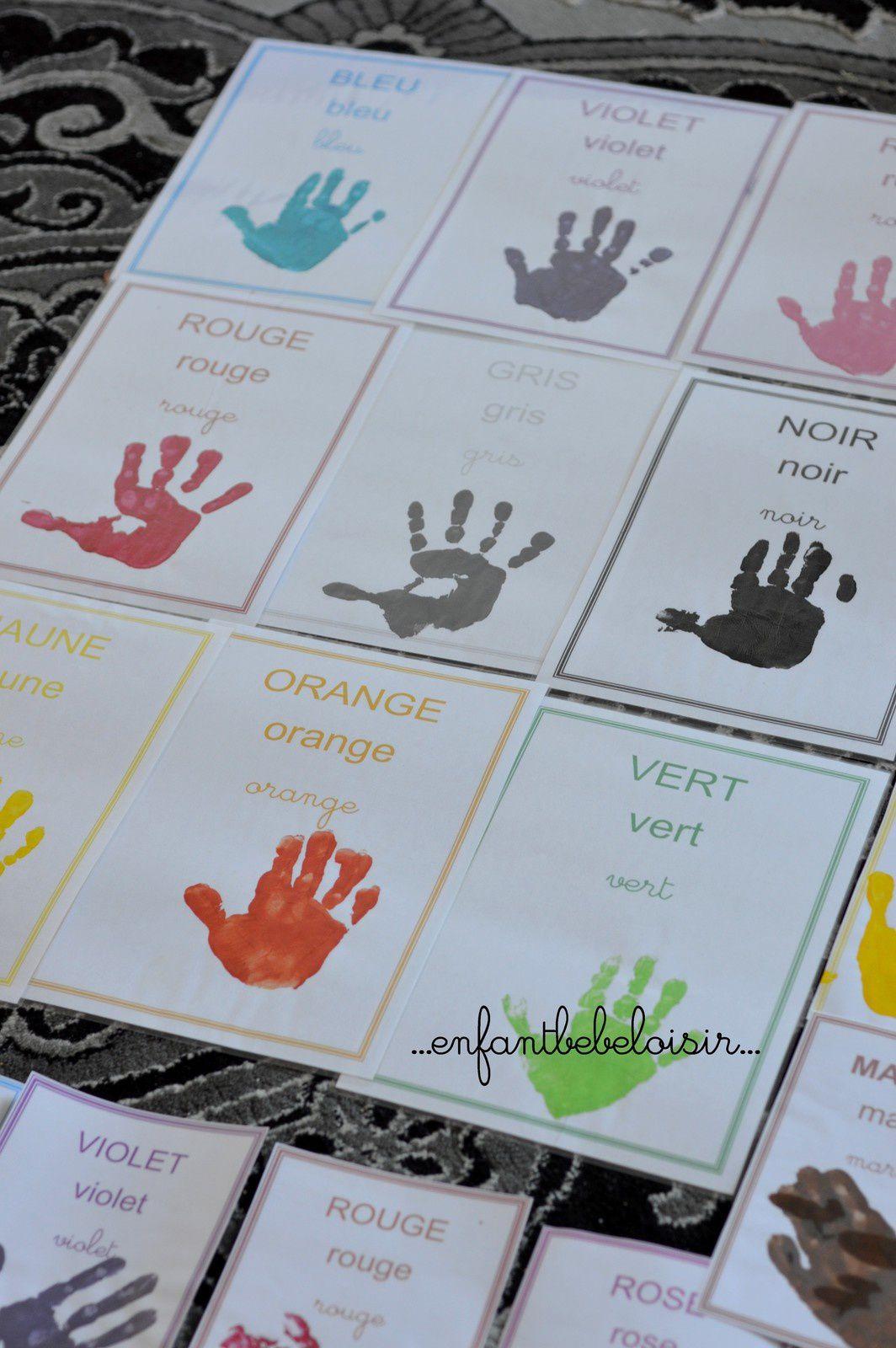 Affiches maternelle à imprimer A4 A5 - les couleurs