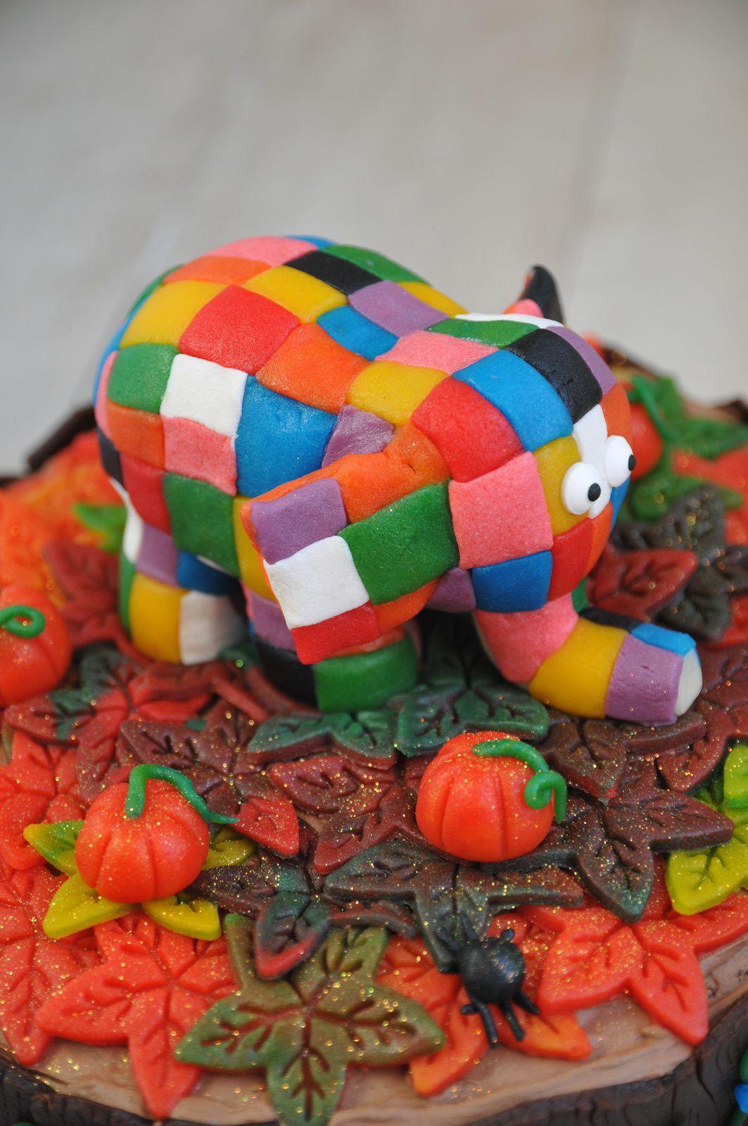 Gâteau Elmer en pâte d'Amande - Elmer Cake