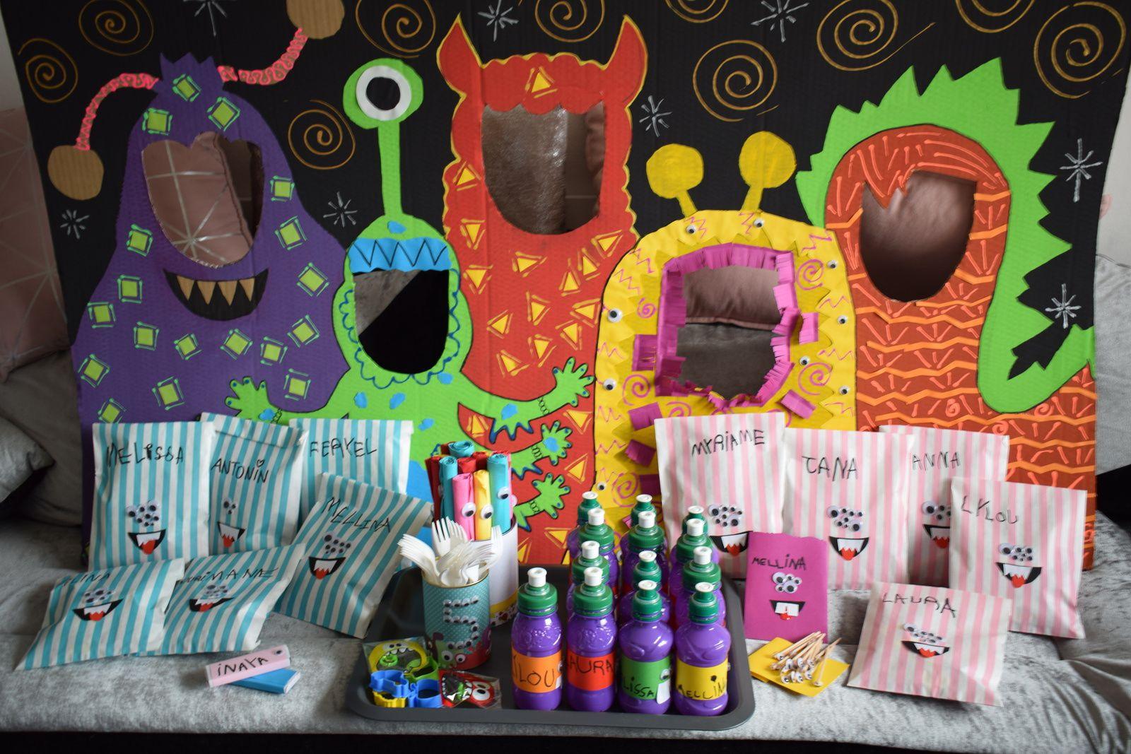 Idées pour une Monster party d'anniversaire - Le récapitulatif
