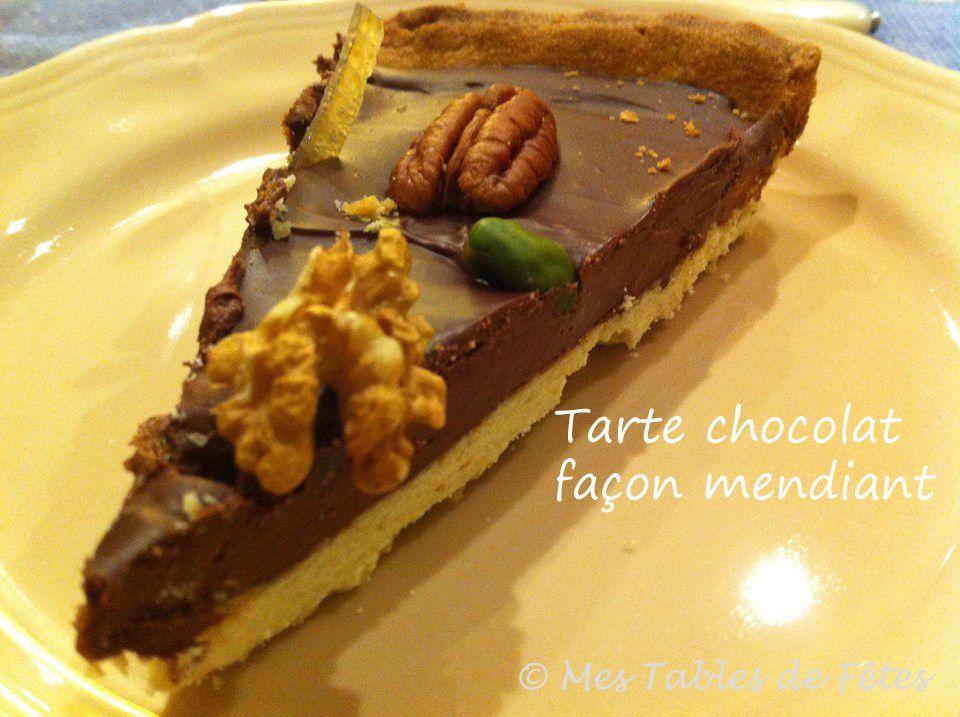 Tarte chocolat façon mendiant