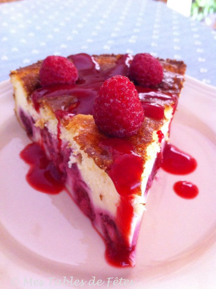 Gâteau fromage framboises