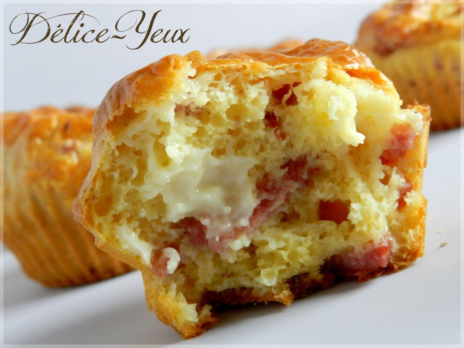 Muffins Bacon &amp&#x3B; Vache qui rit ®