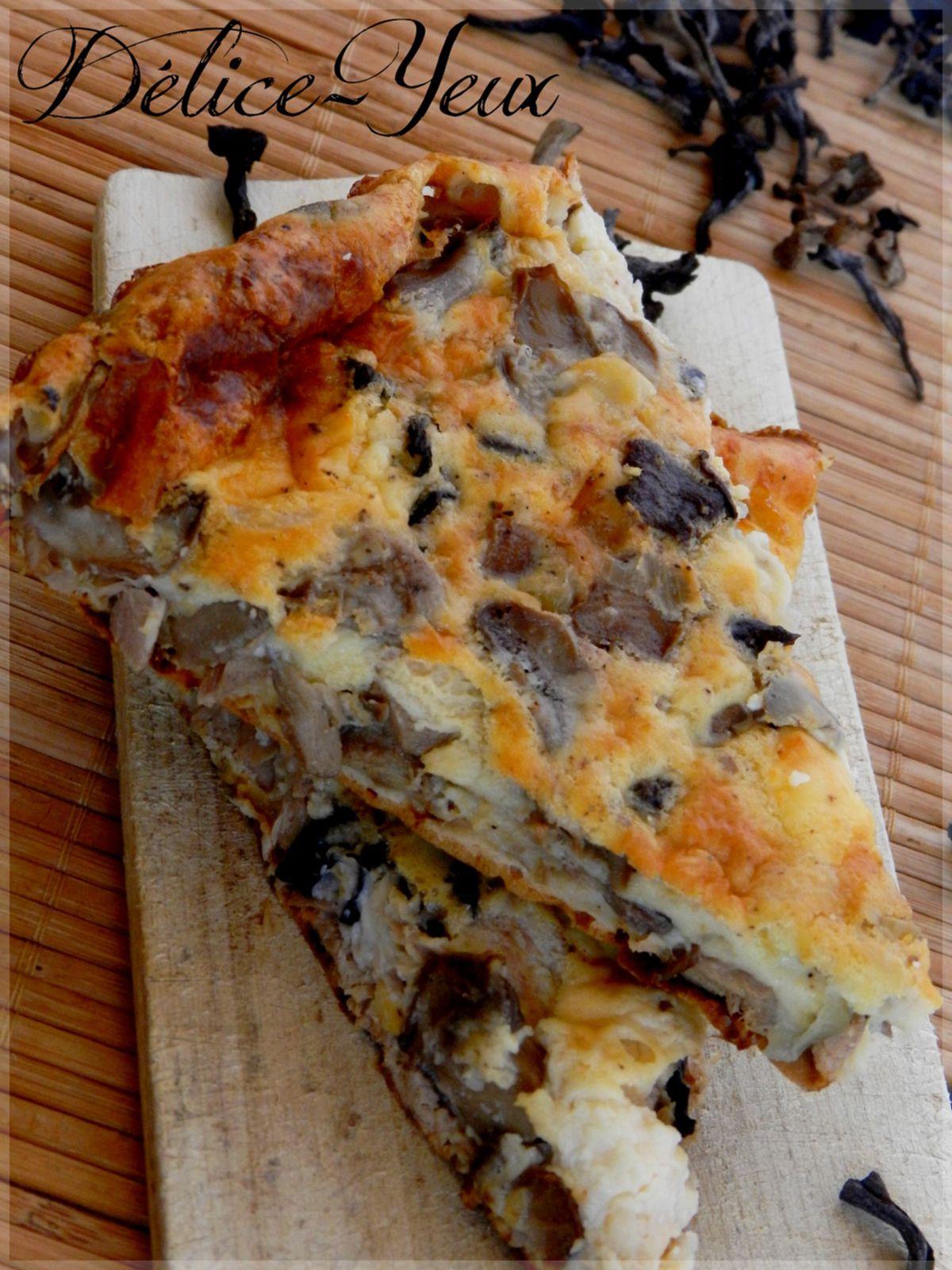 Quiche sans pâte Thon, champignons &amp&#x3B; vache qui rit ®