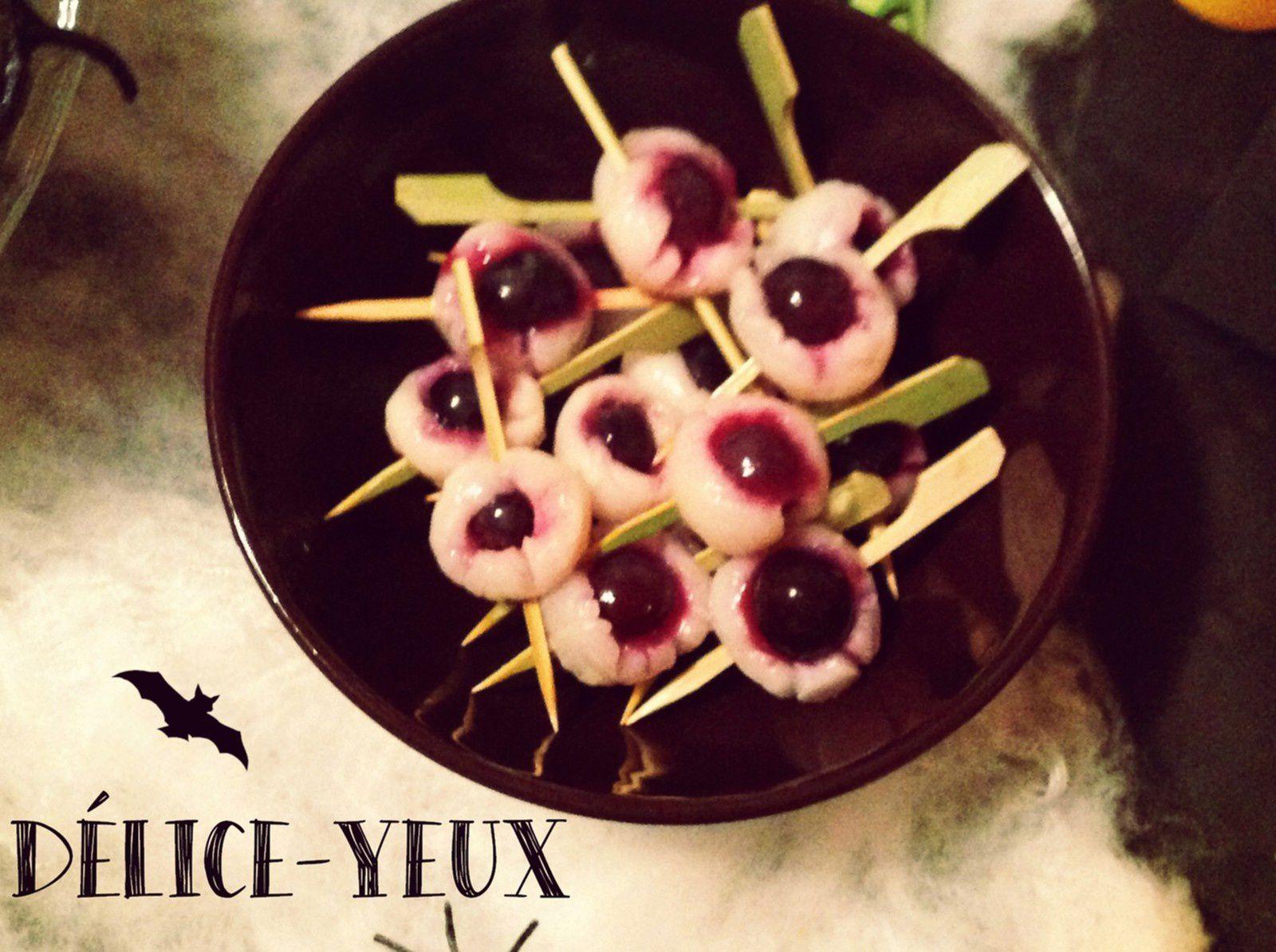 Brochettes &quot&#x3B;Les yeux d'Halloween&quot&#x3B; !