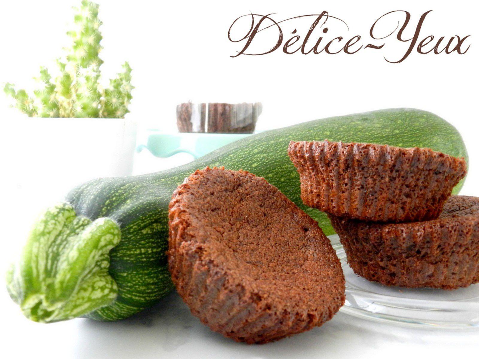 Mini gâteaux Chocolat &amp&#x3B;... Courgette ! {Sans beurre}
