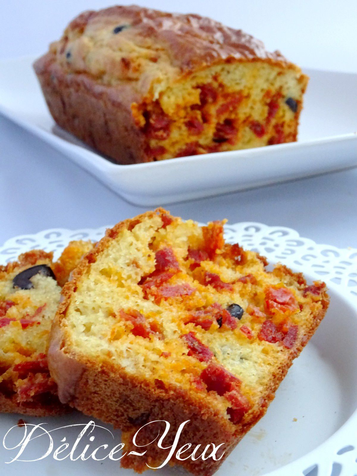 Cake Olives Tomates Fromage