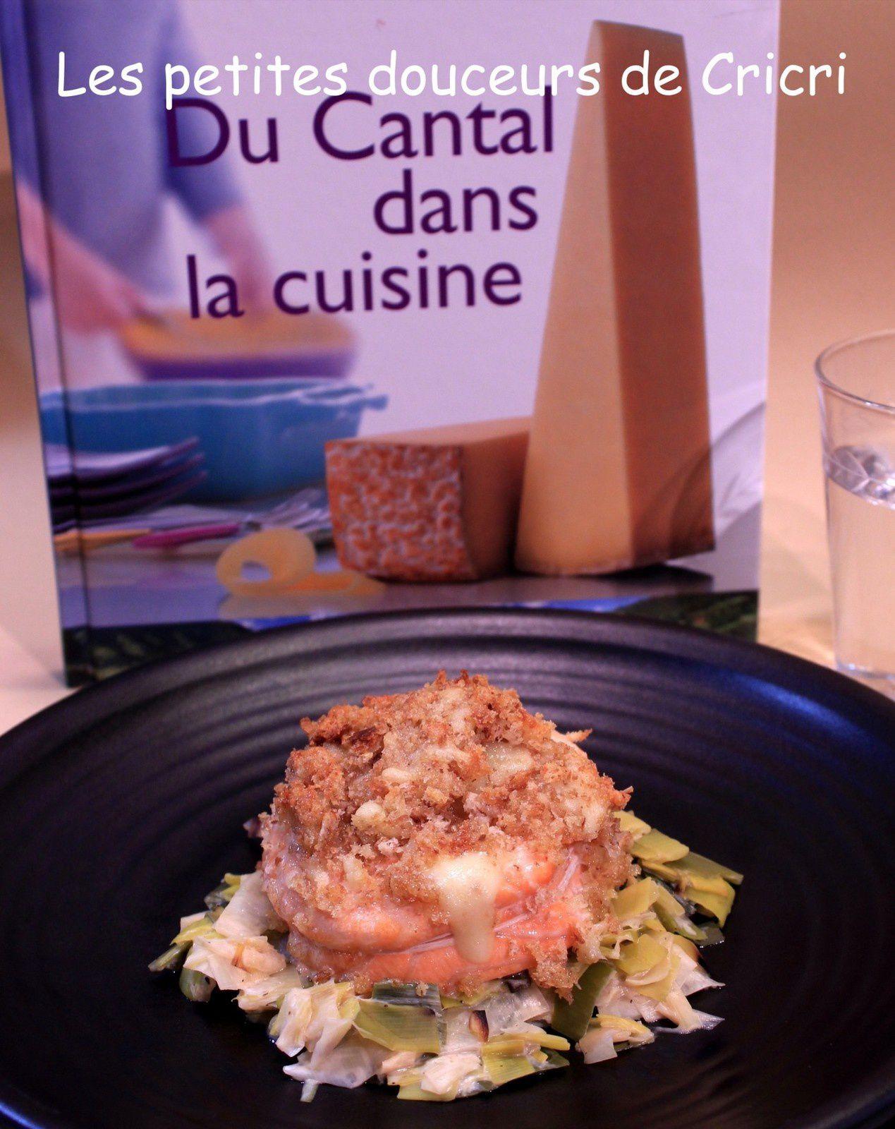 1 Livre 1 Recette - Tournedos de saumon doré au Cantal jeune