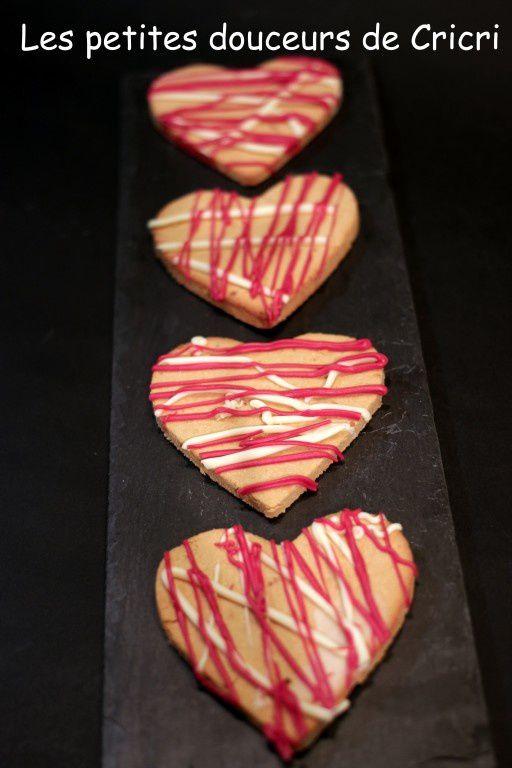 Petits coeurs sablés au yuzu sans gluten