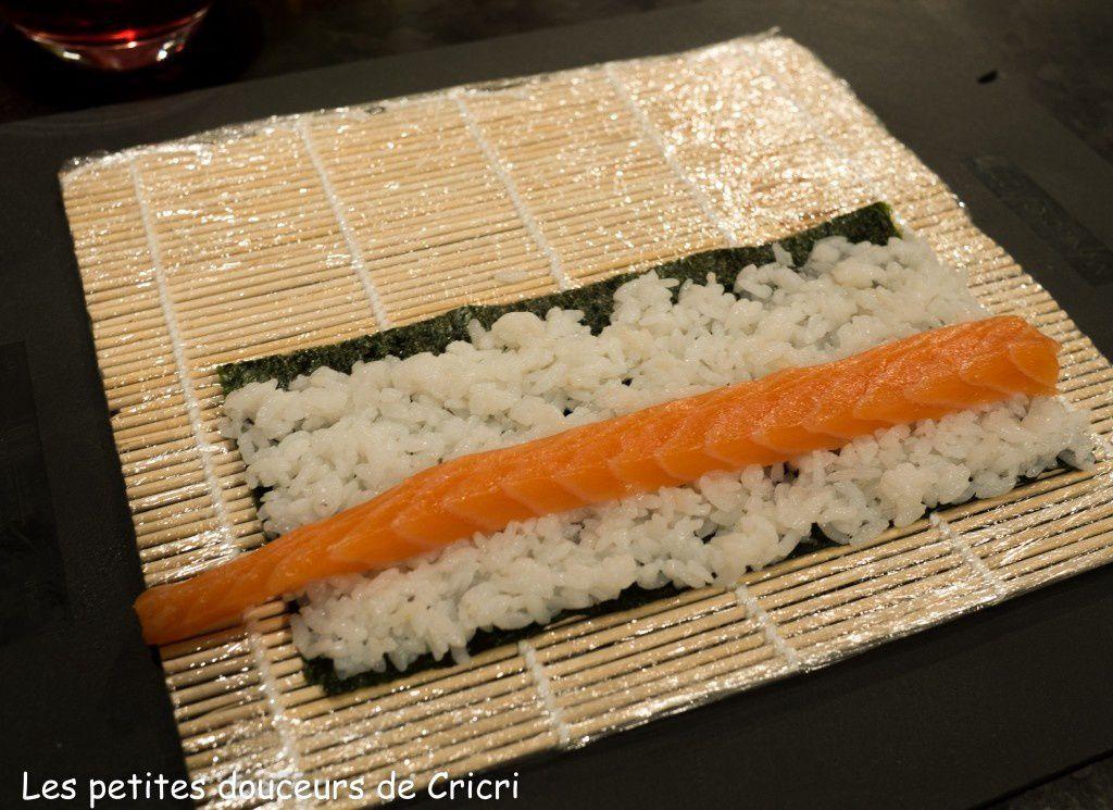 Sushis au saumon tout simplement et plus si affinité